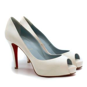 the best attitude 51098 0acb4 Christian Louboutin Shoes | Very Prive 120mm Offwht Satin ...